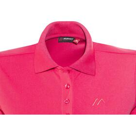 Maier Sports Ulrike Polo Shirt Women Raspberry